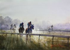 Collecting the Blood of a Sapphire by Joseph Zbukvic - Horse Races