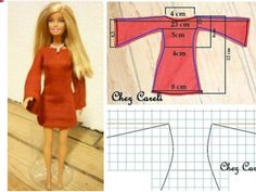 Best 12 Fashion Dolls Couture – Unlimited: Red goes with everything – Made to Move Barbie – SkillOfKing. Sewing Barbie Clothes, Barbie Sewing Patterns, Doll Dress Patterns, Clothing Patterns, Diy Clothes, Sewing Toys, Dress Sewing, Accessoires Barbie, Barbie Mode