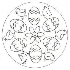 Free Easter mandalas for kindergarten, pre-K and elementary school children