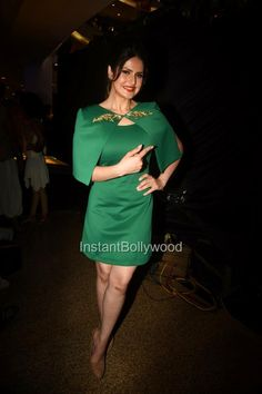 "Zarine Khan in Green Dress at ""Khallaas"" song launch"