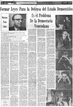 Entrevista a Mariano Picón Salas. Publicado el 7 de febrero de 1963.