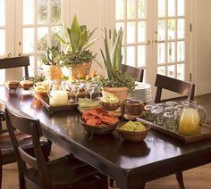 Tequila Tasting & Tequila Party Ideas | Pottery Barn:  Love the Agave plants as centerpieces.  Would be easy to keep!