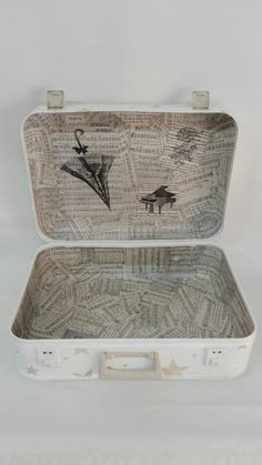 "Vista interior de la maleta ""renovada"""
