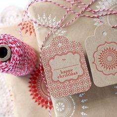 beautiful letterpress tags