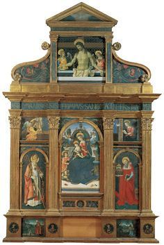 Pinturicchio in Umbria: Altarpiece of Santa Maria dei Fossi, ca. 1495-96.  The patronage of Alexander VI and his son, Cesare Borgia, probably secured for Pintoricchio the commission to execute an important altarpiece for Santa Maria dei Fossi, Perugia