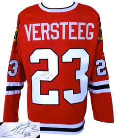 Kris Versteeg Signed Custom Red Pro-Style Hockey Jersey JSA - Sports Integrity