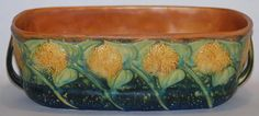 Roseville Pottery Sunflower Window Box from Just Art Pottery