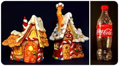 ❣DIY Gingerbread Fairy House Lamp Using Coke Plastic Bottle❣ - YouTube