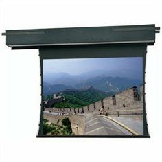 "Da-Lite Tensioned Executive Electrol - Projection screen (motorized) - 1:1 50inch X 50inch- Pearlescent by Da-Lite. $3399.66. 81053 Size: 50"" x 50"" Same great features as the Executive Electrol except screen is tensioned for an extra flat surface for optimum image quality when using video or data graphics. Tab guide cable system maintains even lateral tension to hold surface flat while custom slat"