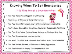 When is it time to set a boundary?