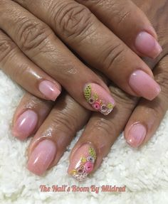 My mom's nails used @tonesproducts collection of metallics for the two tone and my fave cover, Tones pink & 3d nail art💗 #thenailsroom #uñas #uñasacrilicas #uñasdecoradas #diseños3d #nails #nailart #3dnailart #acrylicnails #acrylic #tones #tonesproducts #prettynails #nailprodigy #nailprodigy #nailpro #nailpromagazine #nailpromote #NAILDIT💅 #taperednails #coffinnails #flowernails #shortnails #metallic #girly #pretty #dainty