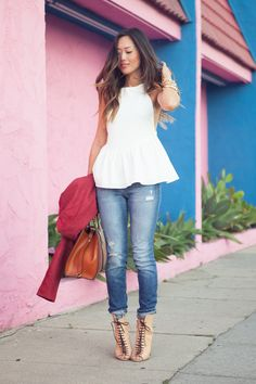 0f4b80921c86 A Thin Line Between Summer and Fall Dressing | Song of Style Denim Shoes,  Street