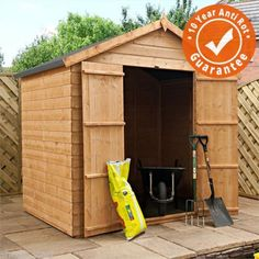 5 X 7 Tongue And Groove Apex Double Door Garden Shed By Waltons