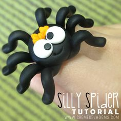 Creme de la Gems: Silly Spider Polymer Clay Tutorial DIY