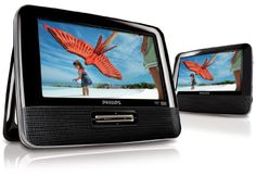 "4/9/2012  $54.99  + FREE SHIPPING Philips 7"" Dual Screen DVD Player w/ Built-in Stereo Speakers, PAL & NTSC Compatibility & Power Resume"