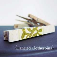 Fancy up those boring clothespin with an easy DIY tutorial!