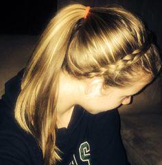 Easy headband braid & ponytail