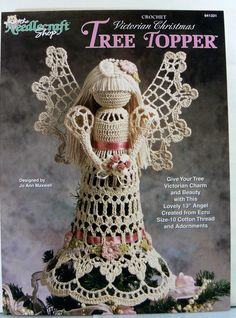 Crochet Victorian Christmas Tree Topper Angel by QuiltyScraps, $4.00