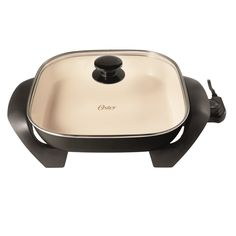 "Oster DuraCeramic 12"" Electric Skillet - Black/Creme"