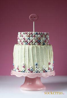 candy cake by sockerrus.se