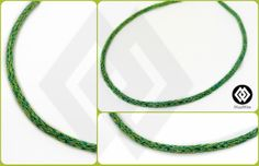 commission for a double weaved necklace turquoise and green lime