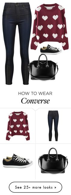 """Sin título #5166"" by xoxominyeol on Polyvore featuring J Brand, Converse and Givenchy"