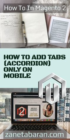 Learn how to quickly add tabs (accordion) only on mobile in Magento 2 project. Detailed tutorial for every frontend developer. News Blog, Ecommerce, Desktop, Ads, Technology, Learning, Tech, Studying, Tecnologia