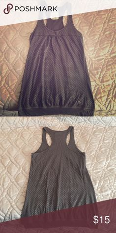 Tank top Grey/brown with silver dots in great condition Abercrombie & Fitch Tops Tank Tops