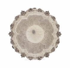A WILLIAM IV SILVER LARGE SALVER, MARKED FOR JONATHAN HAYNE, LONDON, 1835