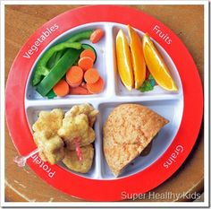Great food site with sample plates and cute recipes for toddlers