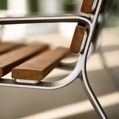 The FGP bench is organic in form and sophisticated in its simplicity. The subtly concave curvature of the cast aluminum structural frames gives it a soft appearance. Urban Furniture, Street Furniture, Metal Furniture, Sofa Furniture, Cheap Furniture, Furniture Plans, Furniture Design, Outdoor Furniture, Timber Slats