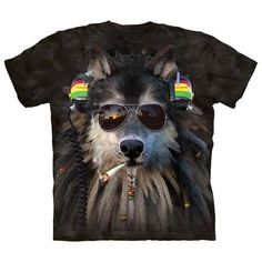 Smoking Rasta Wolf T-Shirt