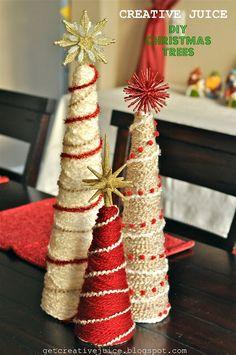 Creative Juice: {TUTORIAL} christmas trees DIY