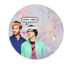 """""""Pastel Rhett & Link"""" by continuous-panic-attacks ❤ liked on Polyvore featuring art"""