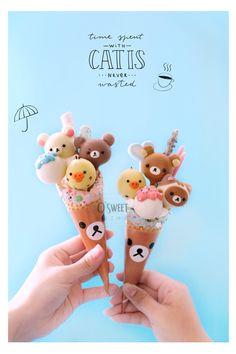 Here are 16 awesome ideas for diy Christmas decorations. Disney Desserts, Cute Desserts, Meringue Cookies, Cupcake Cookies, Rilakkuma Cake, Cake Pops, Lego Ninjago Cake, Bolo Minnie, Kawaii Dessert