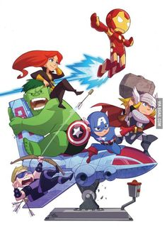 Cute Avengers by Gurihiru
