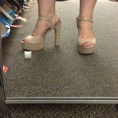 Love my beige shoes from Payless