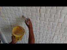 Como fazer Placa de Gesso Mosaico 3D - Sugestão de Negócio! how to make plaster board 3D - YouTube