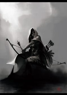 Hunter Picture  (2d, fantasy, hunter, girl, woman, archer)