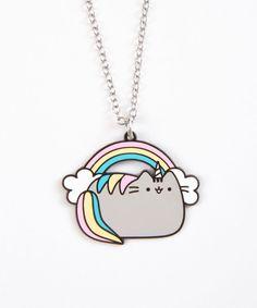 Hey Chickadee Rainbow Pusheenicorn Necklace Pu-43 #HeyChickadee
