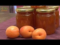 Recette de la Confiture d'abricots - 750g - YouTube Recipe Steps, Food Videos, Jelly, Food To Make, Salsa, Veggies, Jar, Desserts, Recipes