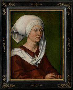 Ritratto della madre Barbara Holper. Un tempo parte di dittico con ritratto del padre agli Uffizi. Germanisches Nationalmuseum di Norimberga