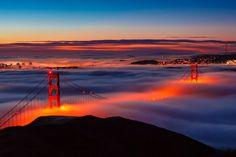 Golden Gate Bridge and San Francisco By Joe Azure Gate Pictures, Cool Pictures, Cool Photos, Amazing Photos, Beautiful World, Beautiful Places, Stunningly Beautiful, Natural Wonders, Vacation Spots