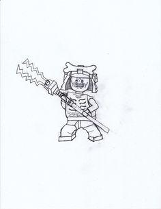 coloring page drawn by me of lord garmadon from ninjago masters of spinjitsu