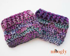 "I get lots of requests for ""X"" to match the ""Y"" patterns here on Moogly, and I'm always happy to oblige when I can! In that vein, the Luscious One Skein Cowl pattern inspired a hat, fingerless mitts… and now, a matching pair of boot toppers! Introducing the Luscious One Skein Boot Cuffs! Like all [...]"