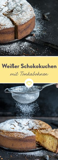 So hast du Schokoladenkuchen noch nie gegessen! Schokoladenkuchen mit weißer Schokolade statt dunkler! Und einer Geheimzutat mit magischen Fähigkeiten: der Tonkabohne!