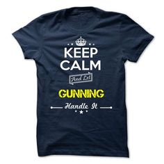 awesome I love GUNNING Name T-Shirt It's people who annoy me