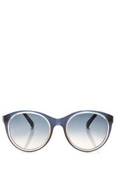 Round-Frame Acetate Sunglasses by Marni - Moda Operandi
