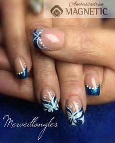 Bright Nail Designs, Cute Summer Nail Designs, Cute Summer Nails, Toe Nail Designs, Acrylic Nail Designs, Blue Birthday, Birthday Nails, Gel Nail Art, Nail Art Diy
