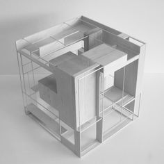 Architecture Student Design Diferentes planos generando espacios con misma materialidad.